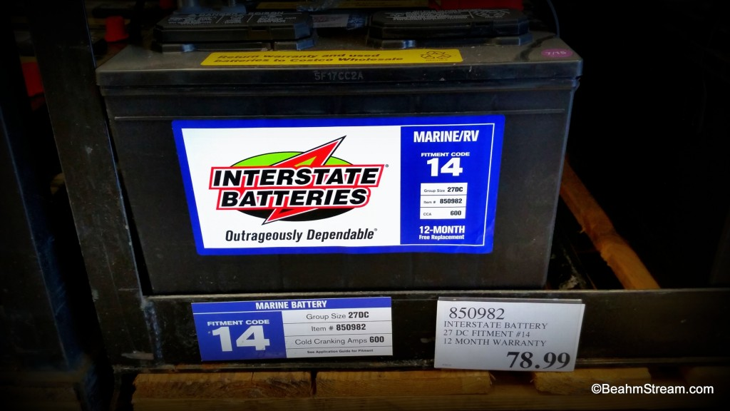 Costco Interstate Marine Rv Battery Beahm Stream