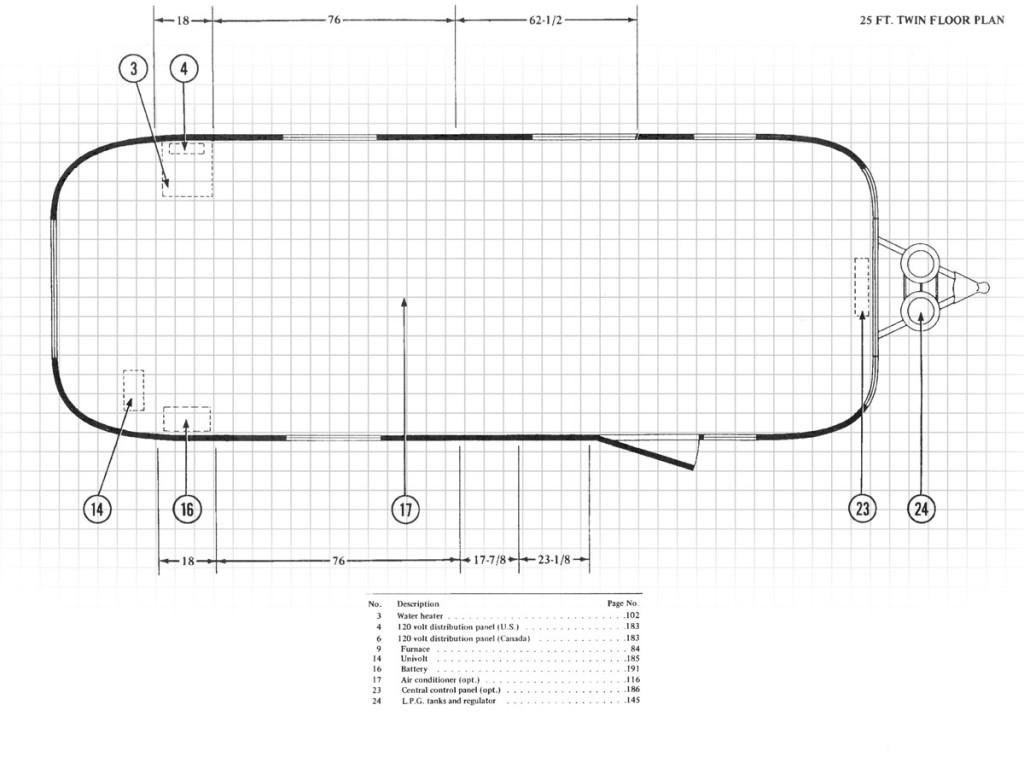 25' Airstream Floor Plan